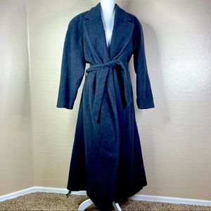 Men's J. Crew Wool Cashmere Long Belted Trench
